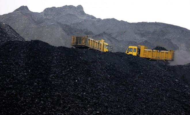 In China, it's coal as far as the eye can see.